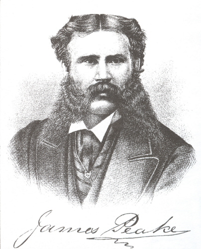 Portrait of James Peake, Jr., from Meacham's 1880 Atlas of Prince Edward Island.