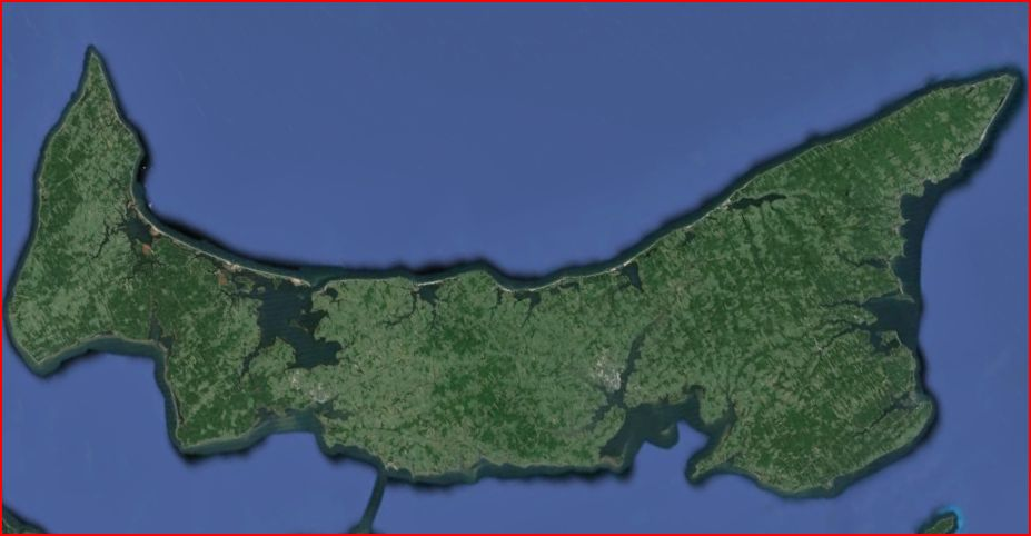 Google Earth snapshot of Prince Edward Island