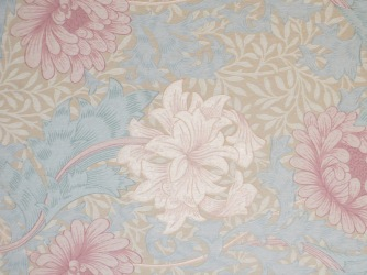 Detail of the wallpaper in the 2nd-floor drawing room. Photo credit: M.W. Ferris Photography