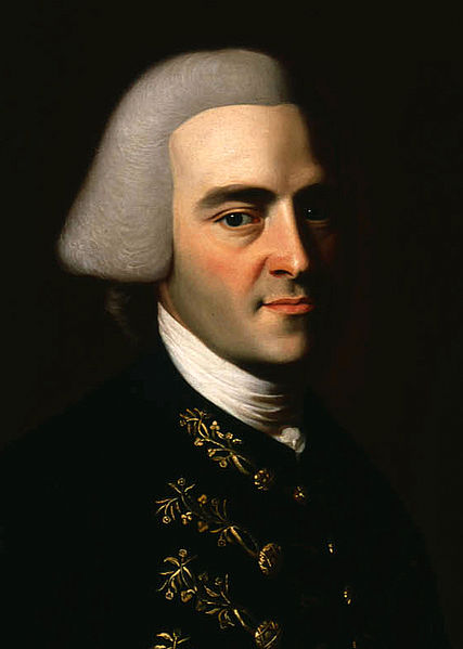 Portrait of John Hancock, by John Singleton Copley.  If you've ever seen the Declaration of Independence, Hancock's is the gargantuan signature, the inspiration for the American euphemism