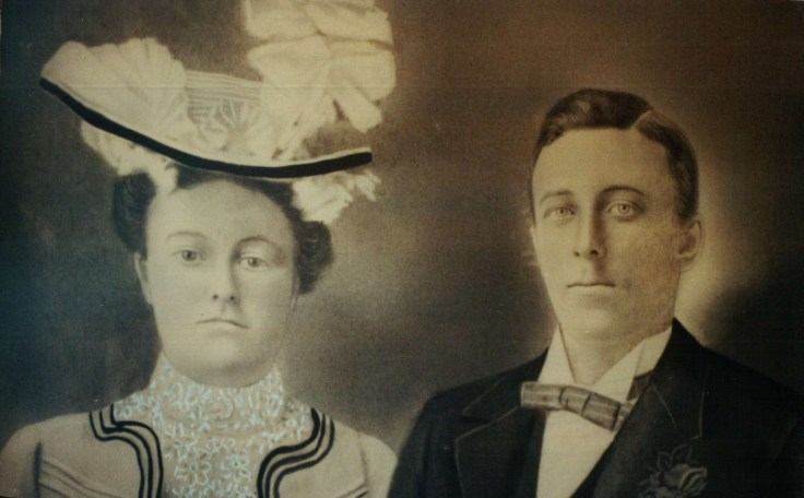 My 2x great-grandparents, John Hamilton Stewart and Christina Nicholson. I believe this portrait was taken on our around their wedding day in July 1900.