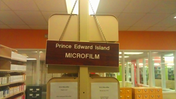 A whole new world awaits in the Prince Edward Island Microfilm section at Robertson Library's Special Collections!