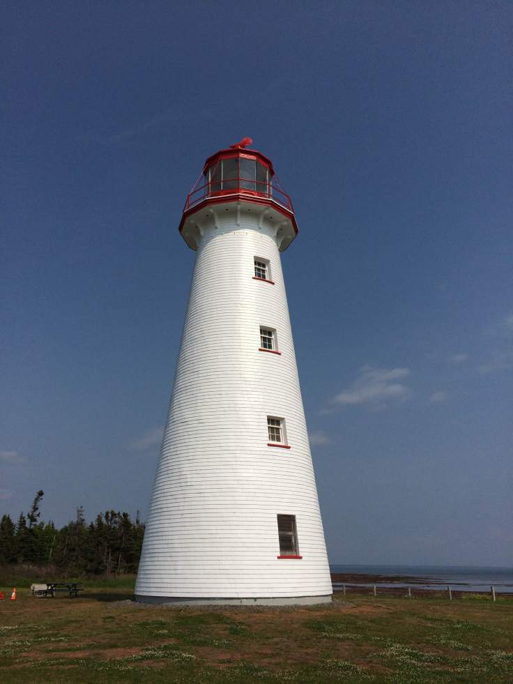 Point Prim Lighthouse. The Island's oldest lighthouse, and one of only a very few round, brick lighthouses in Canada, it was built 170 years ago in 1845! Personal photograph taken July 2015.