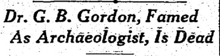 The 'Seattle Daily Times' ran this headline on Gordon's death.